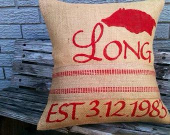 Items similar to Arkansas Razorback Hog Burlap Wreath on Etsy