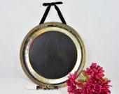 Vintage Silver chalkboard tray / kitchen chalkboard / decorative chalkboard with ornate border / upcycled / shabby chic / message board