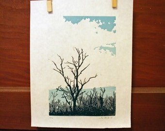 Winter Tree II -Hand Pulled, Limited Edition