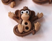 Monkeys Craft Novelty Sewing Buttons Dress It Up