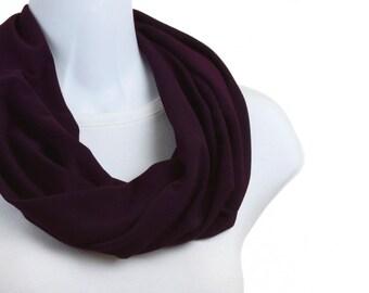 Rich Classic PLUM Purple Infinity Scarf ~ K086-S1