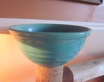 green pottery bowl, pottery, kitchenware