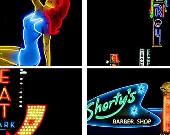 LA photography, neon signs, Los Angeles photography, LA Night Lights