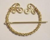 Bronze Pennanular Brooch