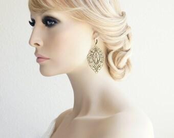 Moroccan Boho Earrings Filigree Earrings Statement Earrings Dangle Earrings Bridal Earrings Boho Jewelry Moroccan Earrings Boho Earring