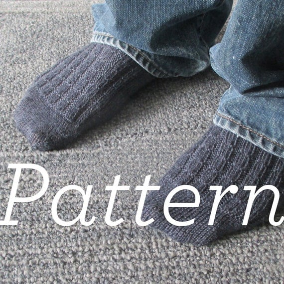 Knit Socks Pattern // Mens simple ribbed sock pdf pattern