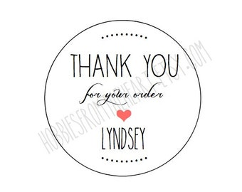 "CUSTOM Labels 2"" - Personalized - Thank You for your order - Etsy sellers round/circle seals/Stickers/labels"