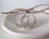 Sterling silver wedding band set, Wedding bands his and hers, Simple wedding band set, Silver wedding band made to order