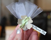 Mini Wedding Favors | Seed Bomb Wedding Favours | Small Flower Favours | Plantable Wedding Favors | Eco Friendly Favors | Chartreuse favors
