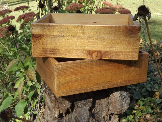 Reclaimed wood/ Distressed/ drawer/ wood/ crate/ desk organizer/ box/