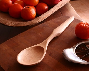 Handmade Maple wood spoon  Large hand carved, elegant serving spoon