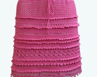 Crocheted skirt  made to order crochet handmade chic elegant spring summer beach