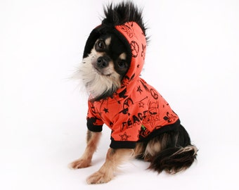 Dog Clothes Trendy Orange Mohawk dog hoodie sweater