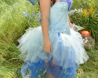 Blue Fairy Costume - corset and skirt