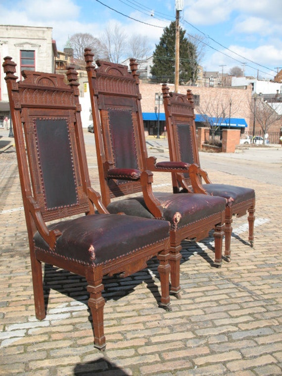 rsv d for tammy antique victorian eastlake church chairs - Church Altar  Chairs. All About - Antique Church Furniture Antique Furniture