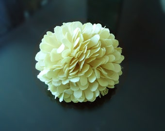 F-564. satin corsage - Light Yellow color
