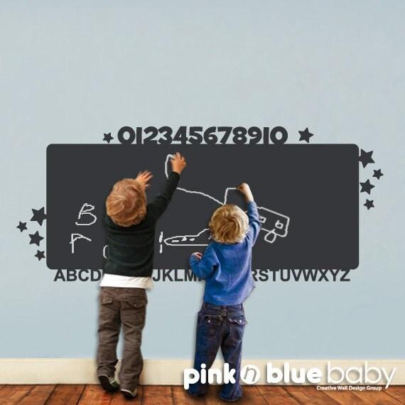 ALPHABET CHALKBOARD Nursery Wall Decal