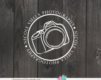 Photography Logo - Camera Watermark for Photos Hand Drawn Camera Logo Watermark