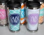 Travel Coffee Tumbler - Monogrammed Tumbler - Custom Coffee Mug