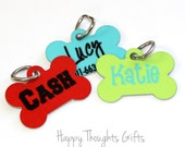 Custom Personalized Dog Tag - Custom Pet Tag - solid colors