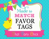 Made to Match Personalized Favor Tag Printable