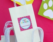 Pet Owner Tags Printable - Kitty and Puppy - Meow, Sit Stay and Play Collection