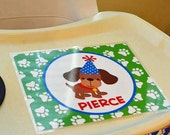 Personalized Puppy Dog Placemat or Sign Printable - Any Wording - Puppy Party Fun Collection