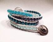Mermaid Leather Wrap Bracelet