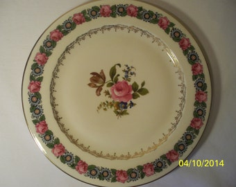 Beyer & Bock Rose Plate Beb 19 Pattern 11 inches