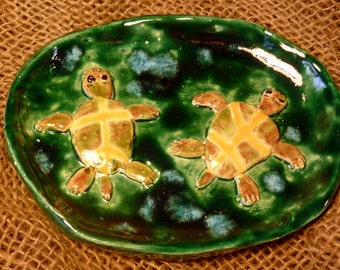 Turtle Dish from Soap to Nuts handmade in U.S.from a lump of clay sold by Artist