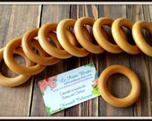 10 Organic Maple Wood Rings - Finished Beeswax Teething Rings for Baby