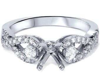 Diamond .40CT Engagement Ring Setting 14K White Gold