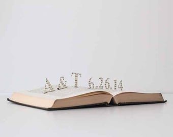 Personalized Vintage Pop Up Book - Your initials and date