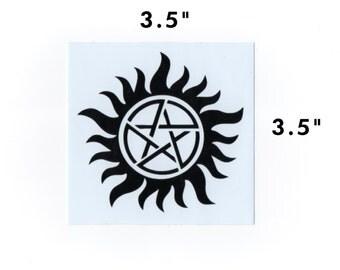 Supernatural sticker - anti possession tattoo decal geek gift