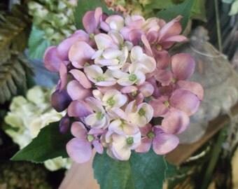 Silk Hydrangia Floral Stem
