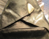 Texier Vintage Black Leather Backpack 1980s