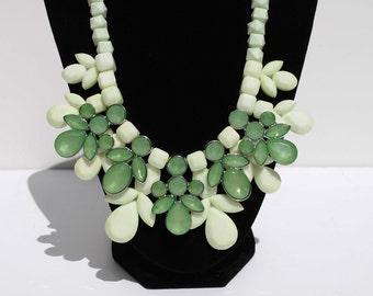 Vintage Inspired Mint Leaf Necklace