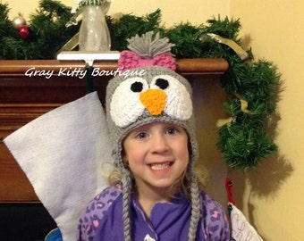 Penguin Hat with braids - All Sizes