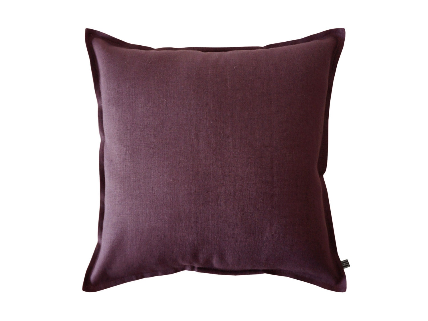 Soft Decorative Throw Pillows : Throw pillow cover Soft eggplant linen by Lovely by LovelyHomeIdea