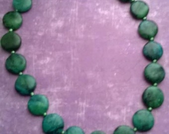 Handmade |necklace| classic style|green