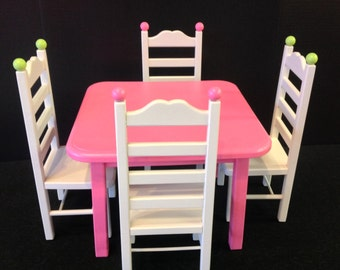 American Girl Doll: Furniture, table 4 chair set doll