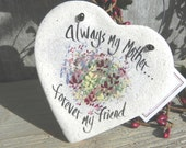 Mother's Day Gift  Heart Salt Dough Ornament Gifts for Mom / Sister