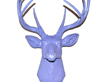 Lavender Purple Faux Deer Head - Taxidermy Wall Mount D2323