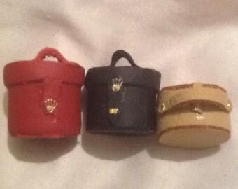 Dolls house miniature leather handbag ooak