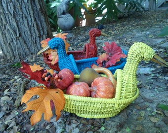 Wicker Duck Baskets in bright colors!!