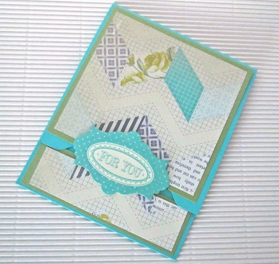 Gift card holder handmade money envelope birthday wedding vintage look roses chevrons stamped stationery home and living stampin up
