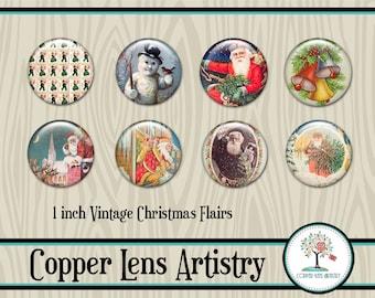 Digital Flairs, Vintage Christmas Images, Scrapbook Flairs, Digital Badges, Digital Scrapbook, Scrapbook Embellishment, Vintage Santa, Flair