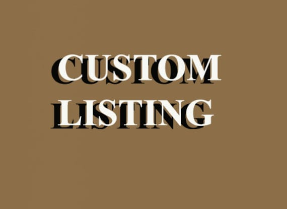 This is a CUSTOM LISTING for Leslie Young