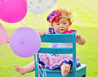 Girls Dresses Girls Birthday Dress Chevron Dress Girls Dresses Baby Dress Chevron Dress Girls Clothing Kids Available 0-3 mo through 6/8