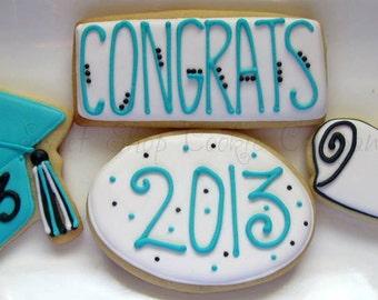 Graduation Cookies 2 dozen